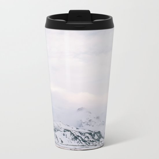 Iceland | landscape - photography - print - travel - mountains - color - photo Metal Travel Mug