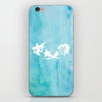 kingdom hearts iPhone & iPod Skins featuring Kingdom Hearts Watercolor by Sierra Wheeler