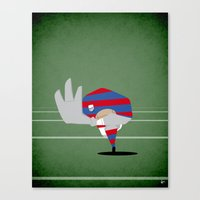 rugby Canvas Prints featuring Rugby by Osvaldo Casanova