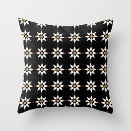 Star Flowers Throw Pillow