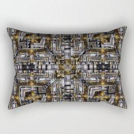 no. 200 black brown gold white pattern Rectangular Pillow