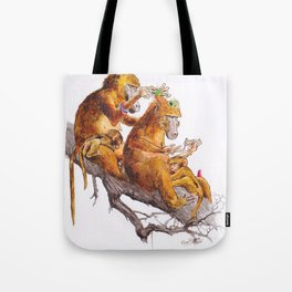 monkeys habits Tote Bag