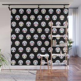 Cute sugar skulls B Wall Mural