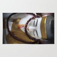 buddha Area & Throw Rugs featuring Buddha by Maria Heyens