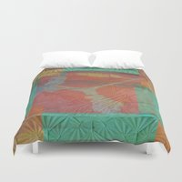 finland Duvet Covers featuring Sampo from Finland by Red Gauntlet