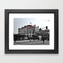 Harvard Square Framed Art Print