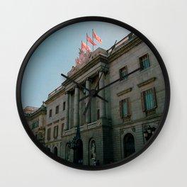 Plaça Sant Jaume Barcelona, Spain Photo by artist Larry Simpson Wall Clock