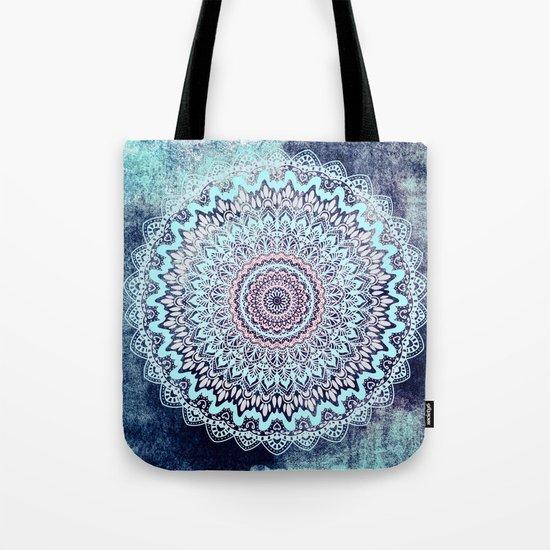 BLUE AUTUMN BOHO MANDALA Tote Bag
