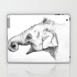 Elephant baby - sketch Laptop & iPad Skin