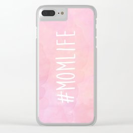 #Momlife - Pink Clear iPhone Case