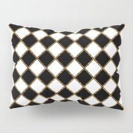Geometric ornament gold seamless pattern Pillow Sham