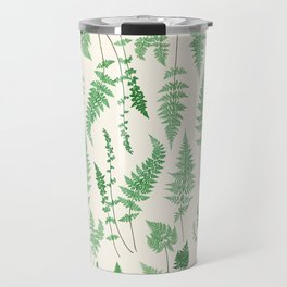 Ferns on Cream I - Botanical Print Travel Mug