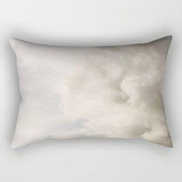 Blue Sky with Gray Clouds Rectangular Pillow