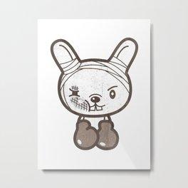 Boxing Bunny Metal Print