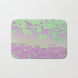 mint lavender abstract digital painting Bath Mat