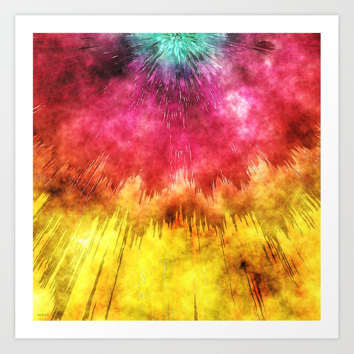 Colorful Textured Tie Dye Art Print