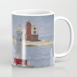 Round Island From Mackinaw Coffee Mug