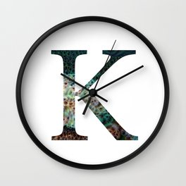 """Initial letter """"K"""" Wall Clock"""