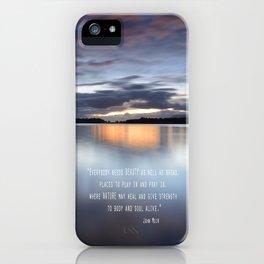 """Everybody needs beauty"" iPhone Case"