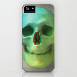 Anaglyph // Skull iPhone Case