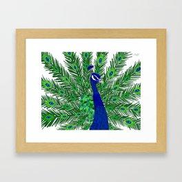 Peacock Collage Framed Art Print