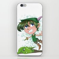peter pan iPhone & iPod Skins featuring Peter Pan by EY Cartoons