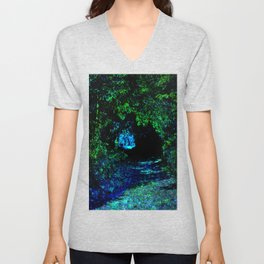 Enchanted Forest Path Unisex V-Neck