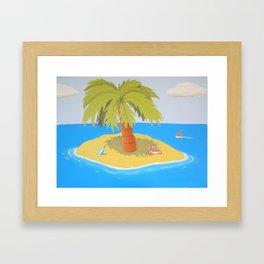 Cross Eyed Crab Framed Art Print