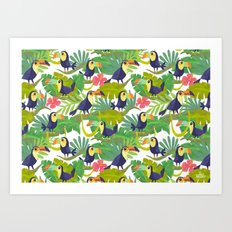 Toucan Paradise Pattern Art Print