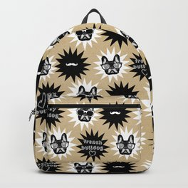 Hipster French Bulldog Backpack