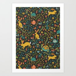 Tortoise and the Hare Art Print