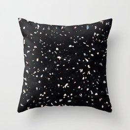 Terrazzo Memphis black galaxy Throw Pillow
