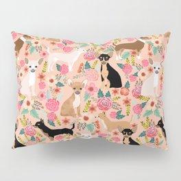 Chihuahua mixed coats dog breed floral pet art must have chiwawa lover gifts Pillow Sham