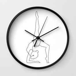 Inhale - Exhale Wall Clock