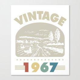 Birthday Gift Vintage 1967 Classic Canvas Print