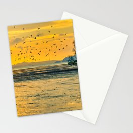Dawn over the mudflats Stationery Cards