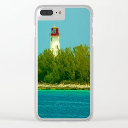 Lighthouse by the Ocean Clear iPhone Case