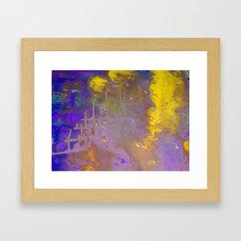 Blue & Yellow Framed Art Print