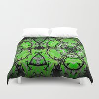 emerald Duvet Covers featuring Emerald by EBC art