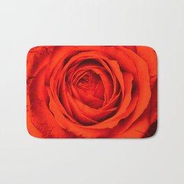 Vintage Rose,red Bath Mat