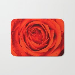 Vintage Rose,red Bath Mat