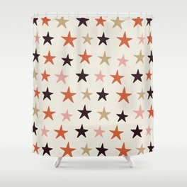 Star Pattern Color Shower Curtain