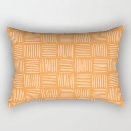 Sherbet Orange Basketweave Rectangular Pillow