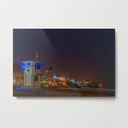Main Beach at Night Metal Print