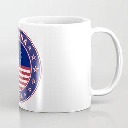 Indiana, Indiana t-shirt, Indiana sticker, circle, Indiana flag, white bg Coffee Mug