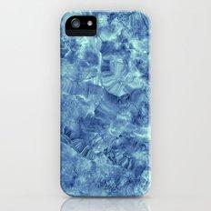 Blue onyx marble iPhone SE Slim Case