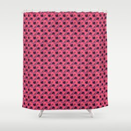 Pastel Red Abstract pattern Shower Curtain