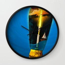 Lightning in a Bottle Wall Clock