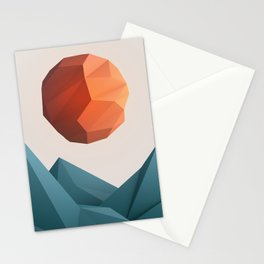 Low Poly Mountain Stationery Cards