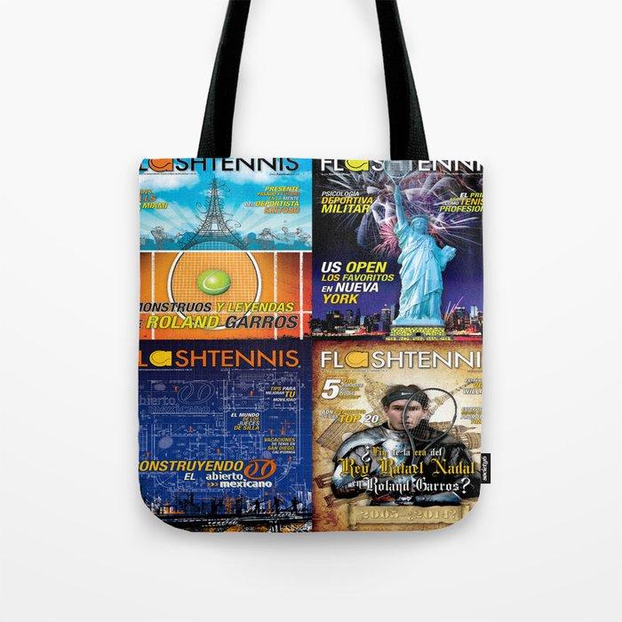 Tennis Magazine Covers Tote Bag